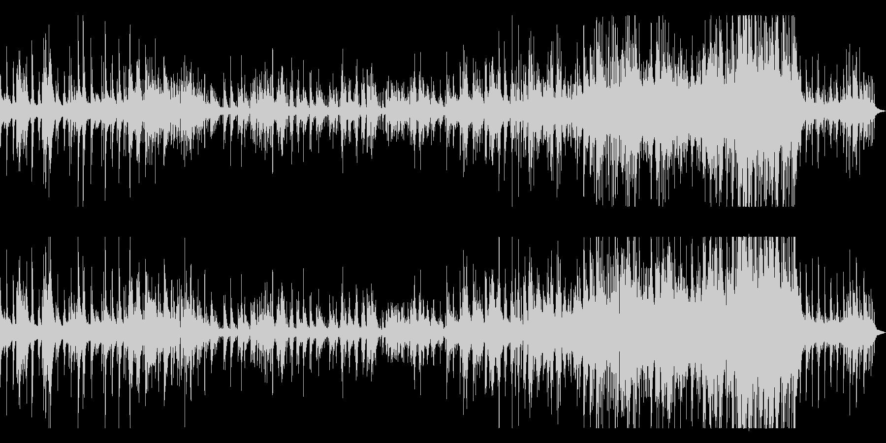 生ピアノの美しく切ないバラードの未再生の波形