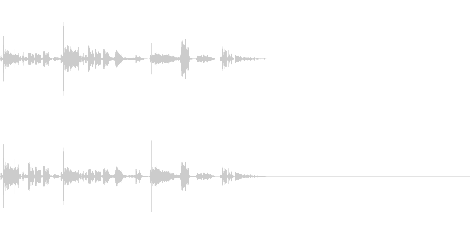 SF CinemaFX 未来生物の鳴き声の未再生の波形