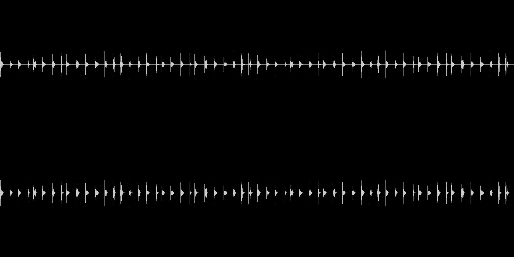 水道の水滴の音の未再生の波形