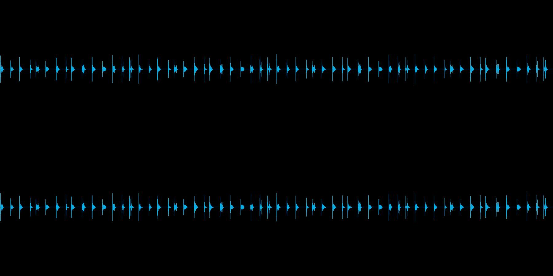 水道の水滴の音の再生済みの波形