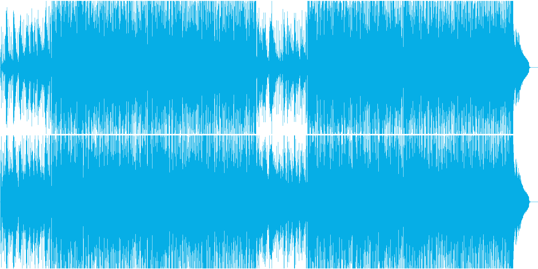 ゆったりフレーズが心地よいカントリー楽曲の再生済みの波形