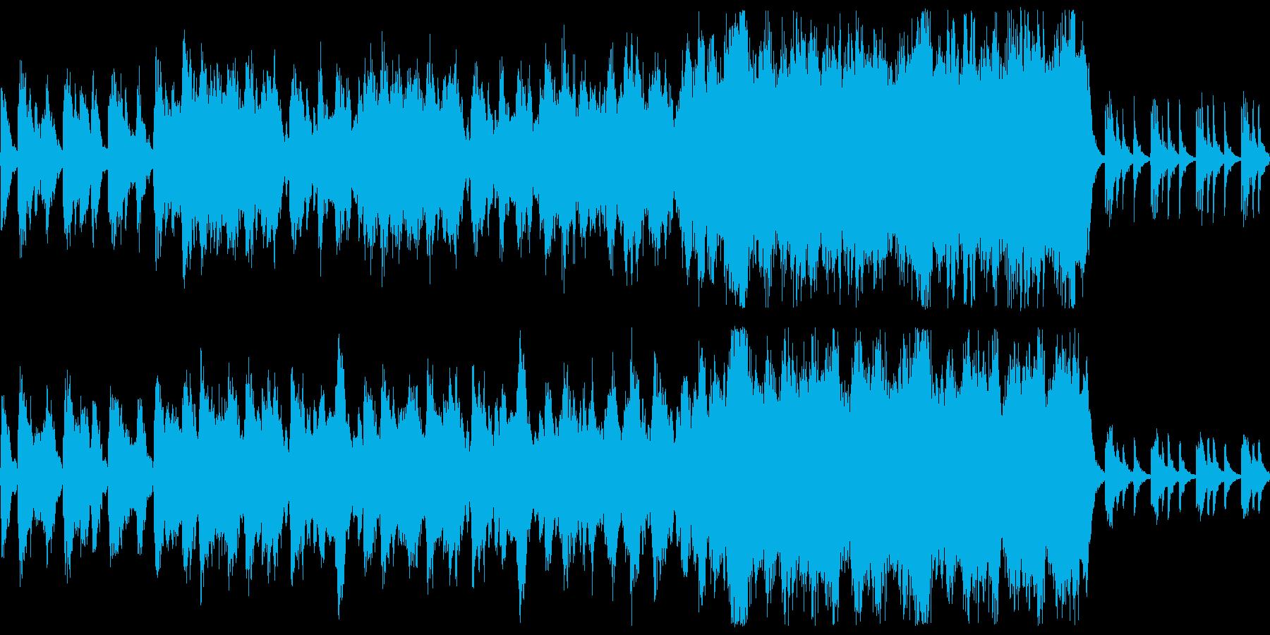 ゲームのタイトル画面系向けなBGMですの再生済みの波形