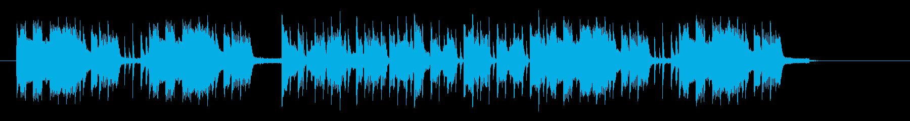 楽しげでおしゃれなシンセギターテクノの再生済みの波形