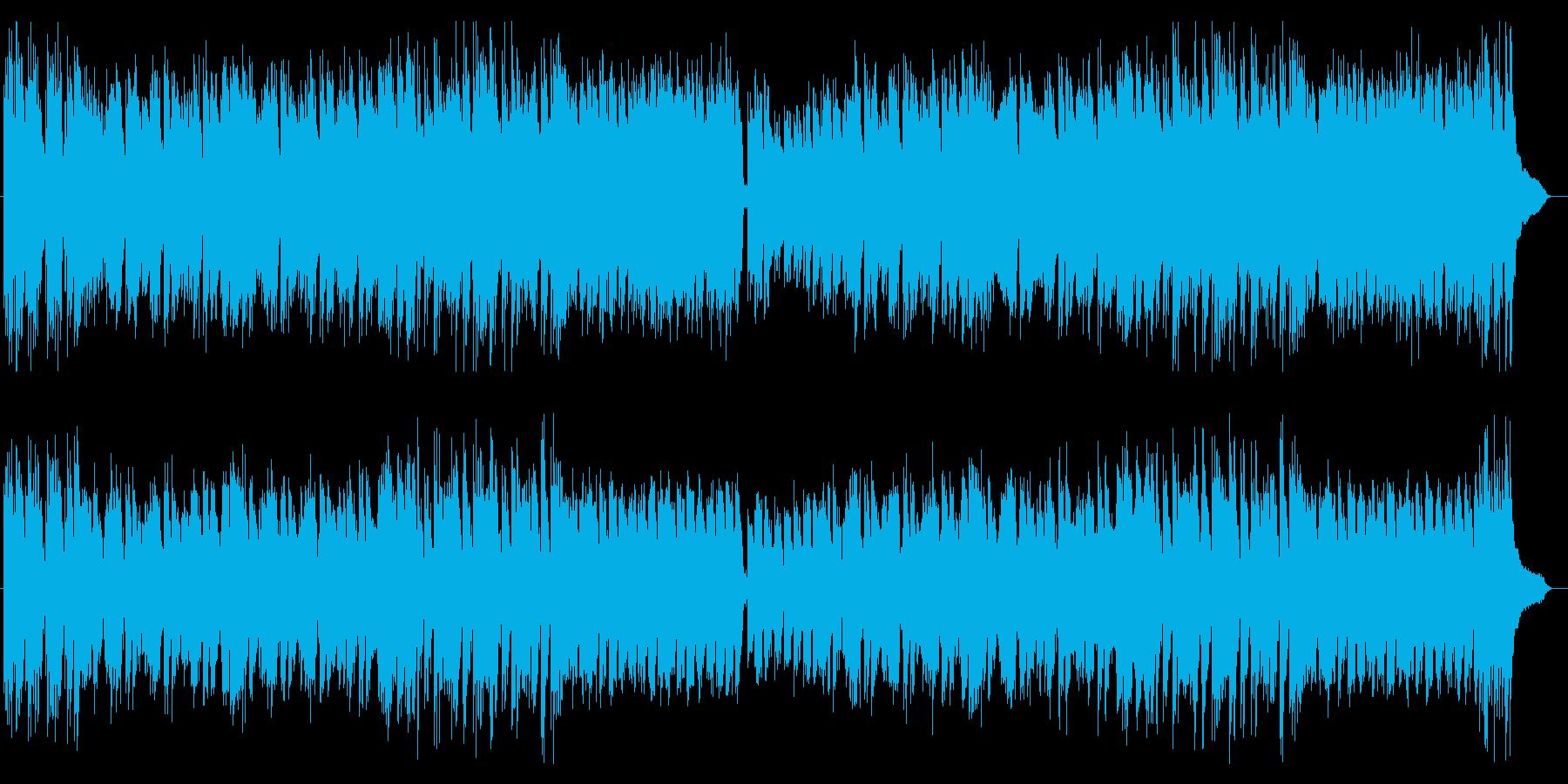 ほのぼの系癒しギター・シンセサウンドの再生済みの波形