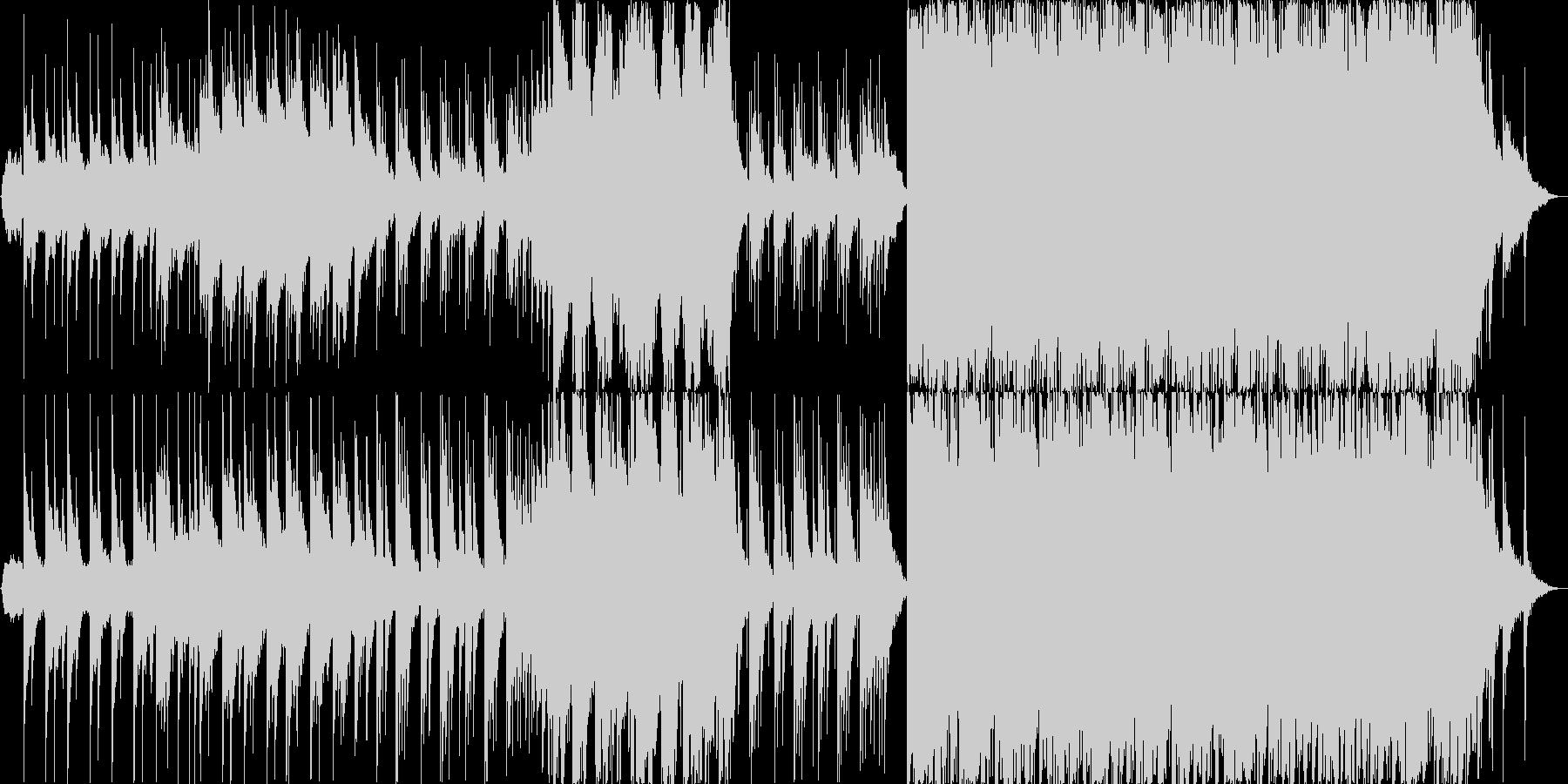 ピアノがメインの穏やかな楽曲の未再生の波形