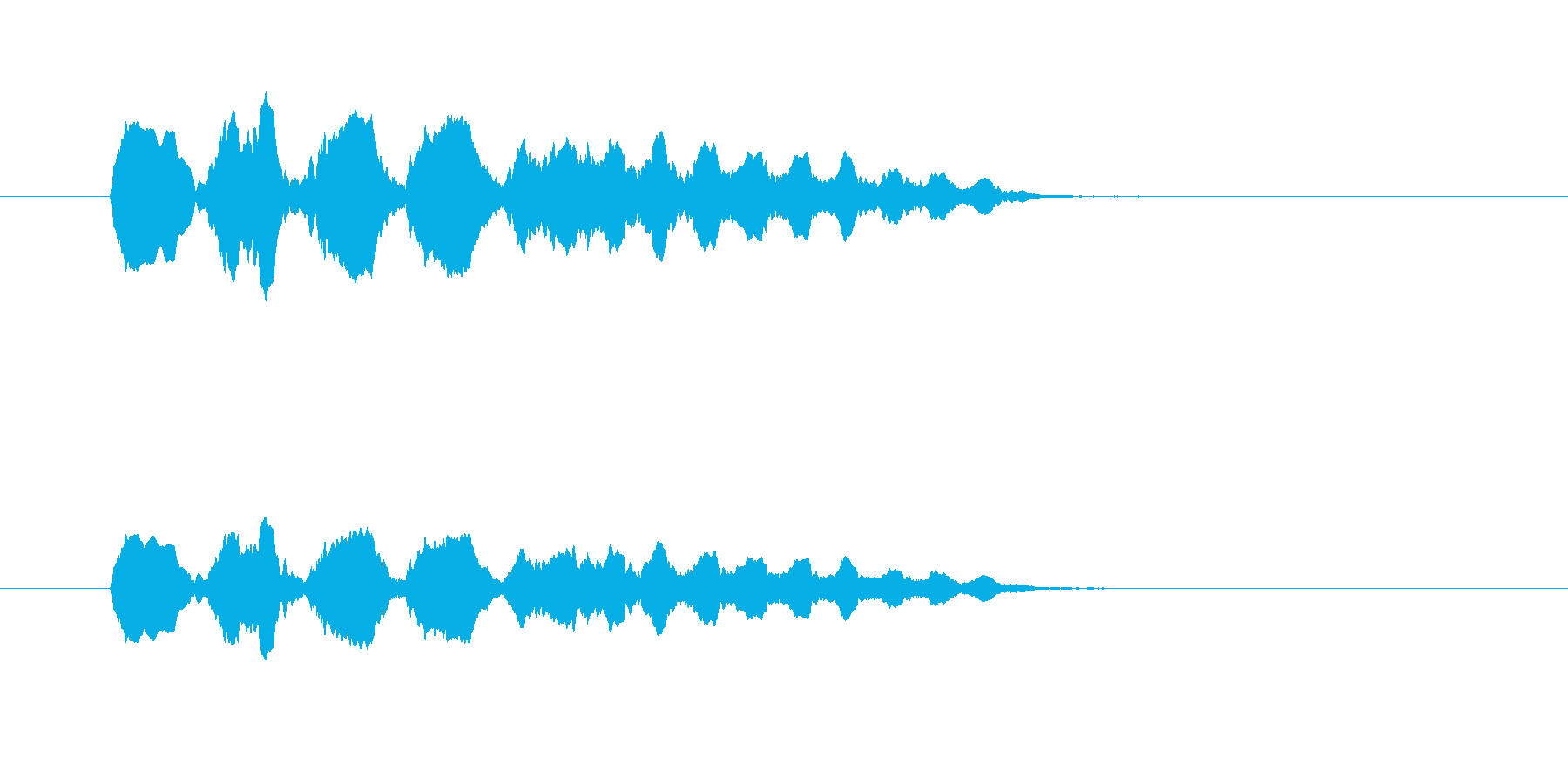 ファンファンファーン(残念、失敗)の再生済みの波形