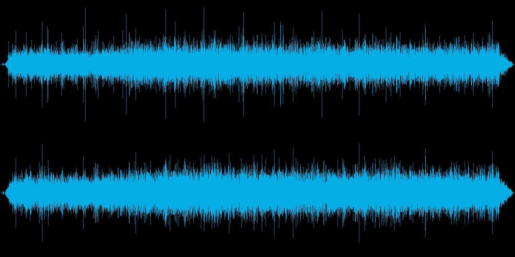 ステレオ感のある拍手、拍手喝采の効果音3の再生済みの波形