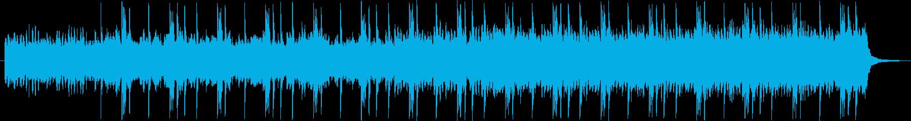 暗い感じのシンセの楽曲の再生済みの波形