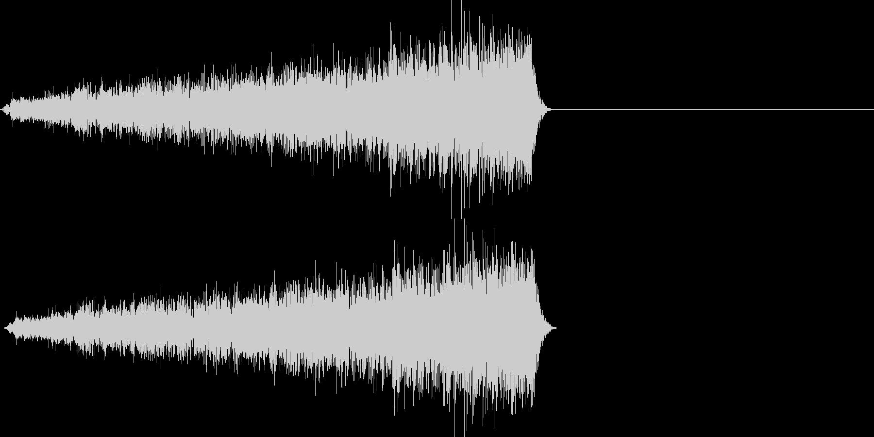 映画向け効果音16の未再生の波形
