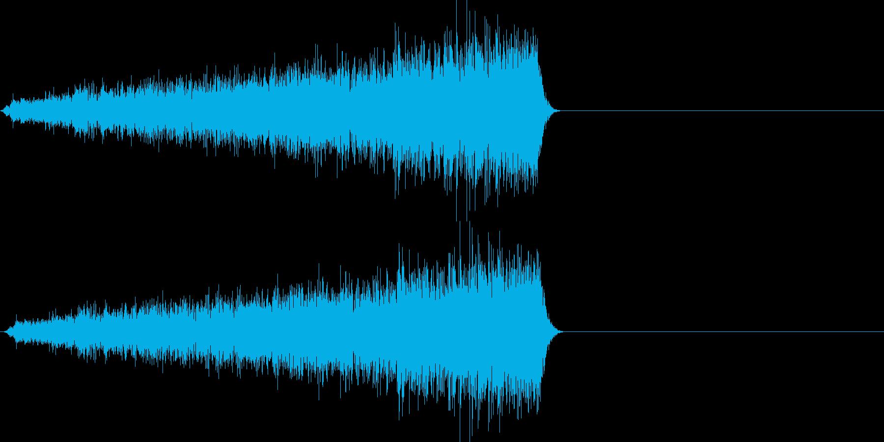 映画向け効果音16の再生済みの波形