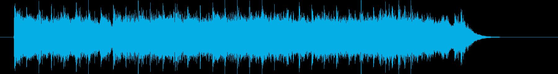 疾走感とワクワク感のギターシンセサウンドの再生済みの波形