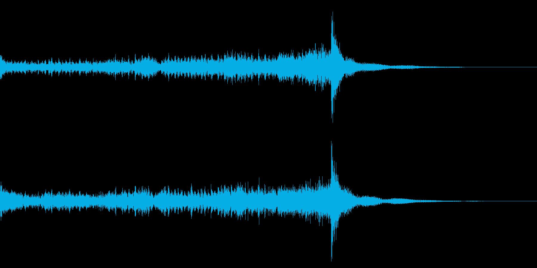 ティンパニーロール☆ロング2の再生済みの波形