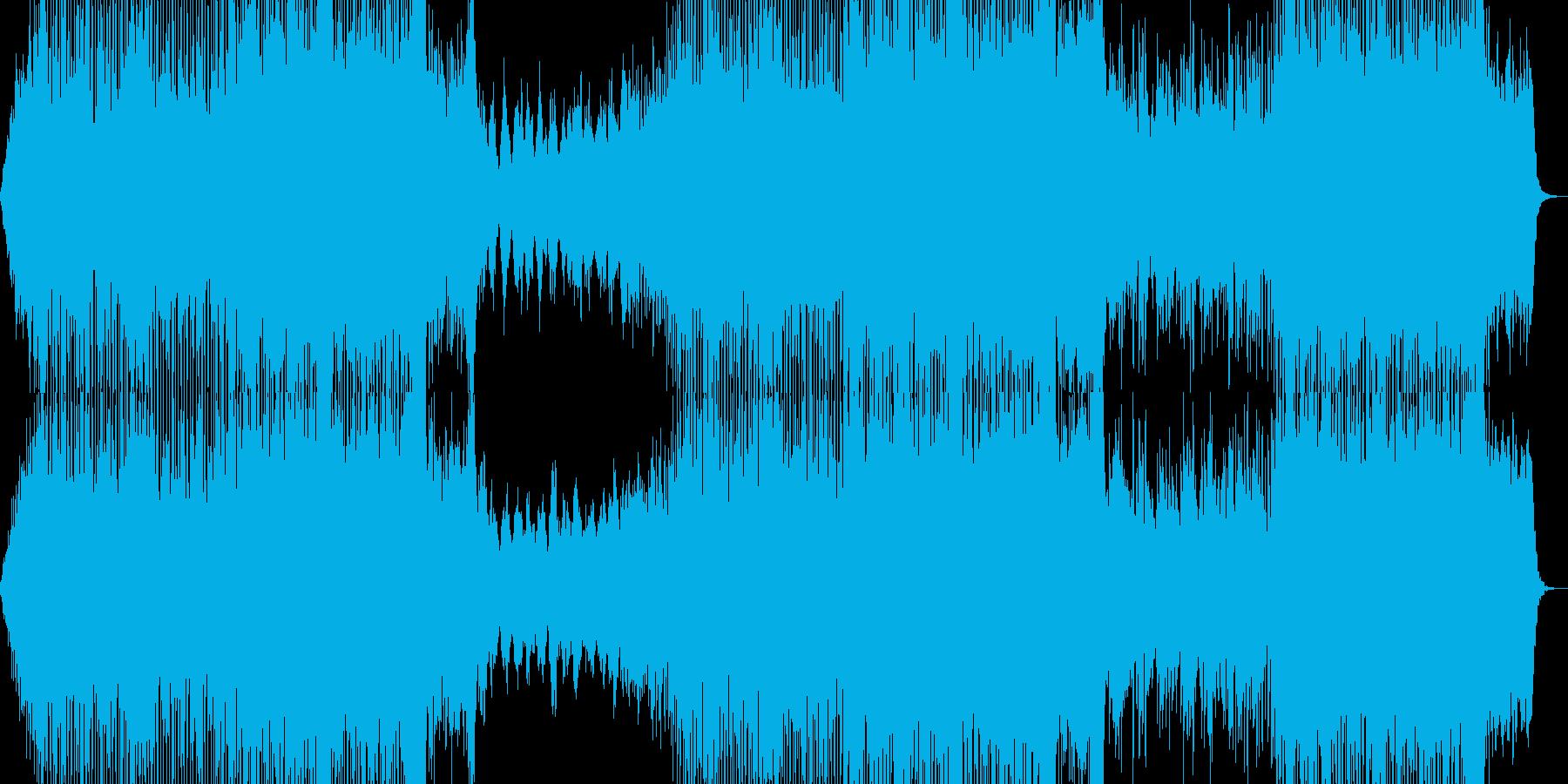 80年代洋楽ポップス風の曲の再生済みの波形