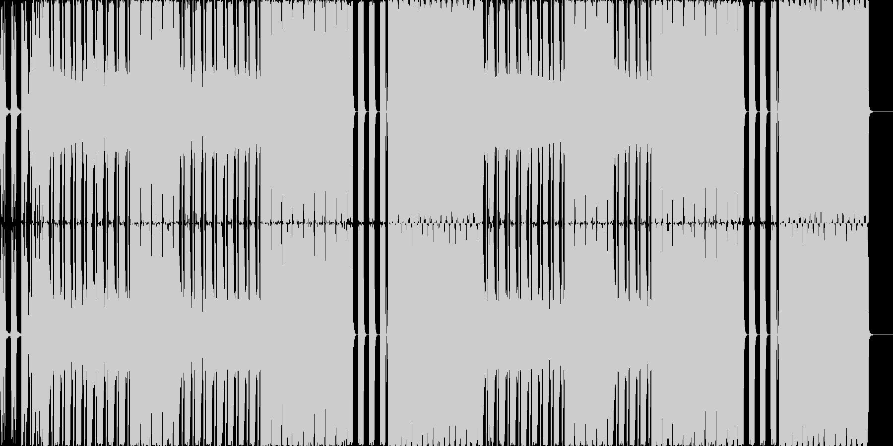 変態リズムの喧しめシンセサウンドの未再生の波形