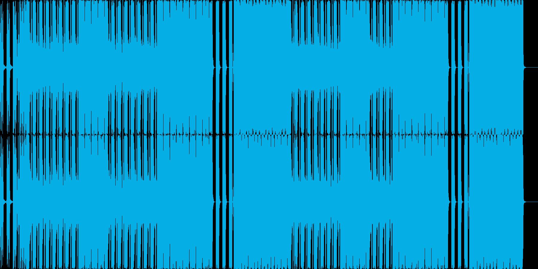 変態リズムの喧しめシンセサウンドの再生済みの波形