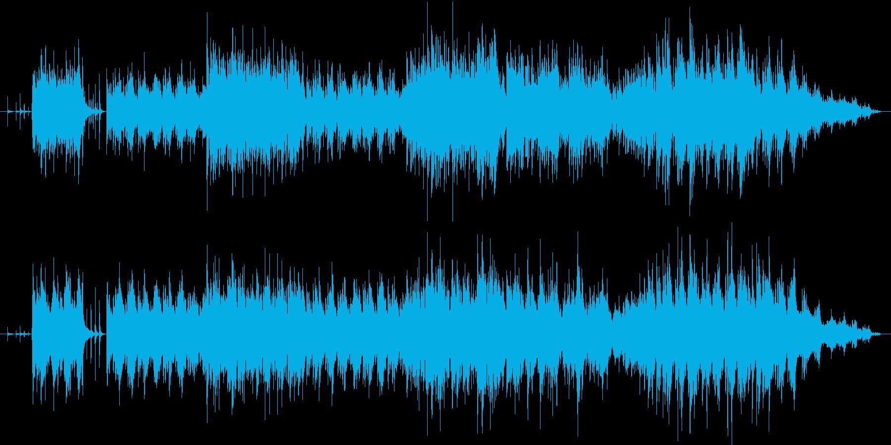 非常にテンポの速いスペイン民族調の曲の再生済みの波形