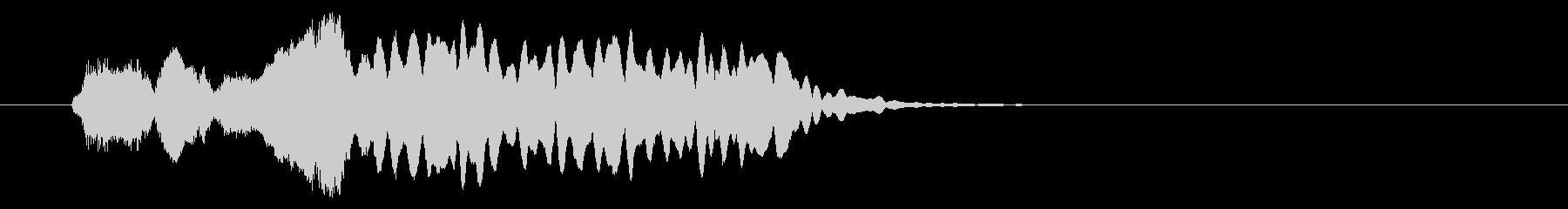 和の素材_尺八フレーズ2の未再生の波形