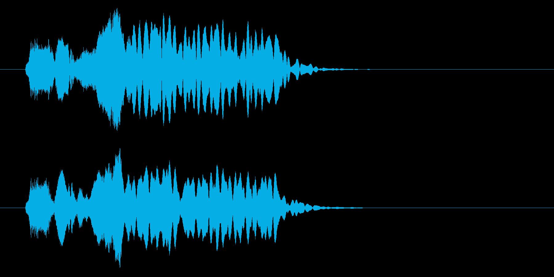 和の素材_尺八フレーズ2の再生済みの波形