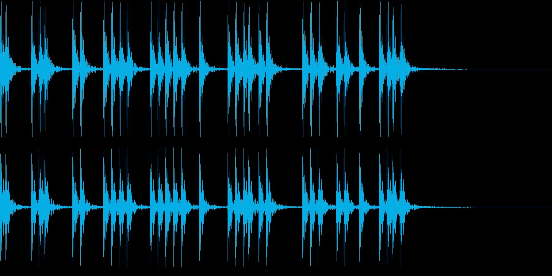 連続したノック音・爆発音(ループ可能)の再生済みの波形