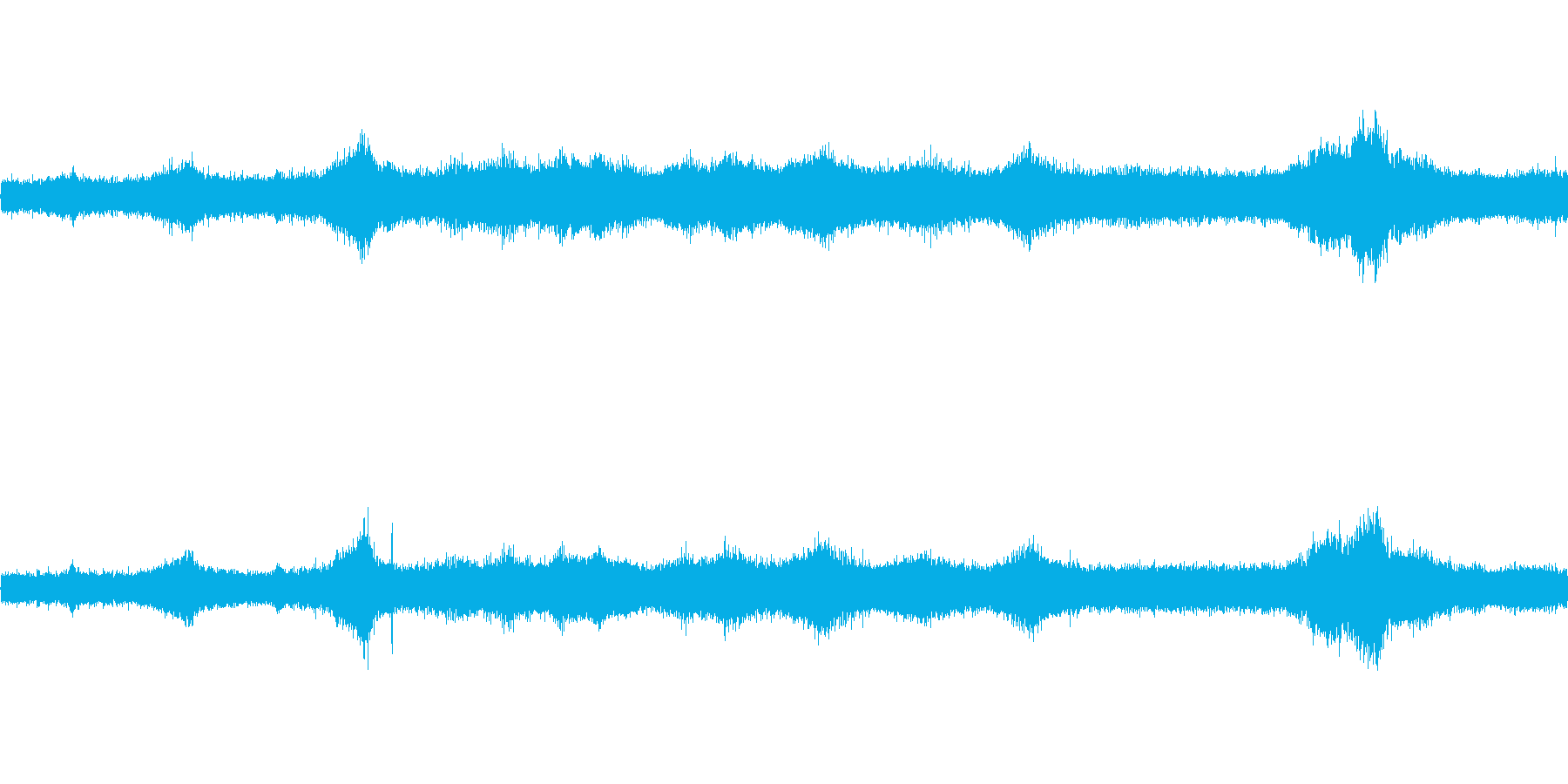 【生音】夏の日の通行音 - 1 「みー…の再生済みの波形