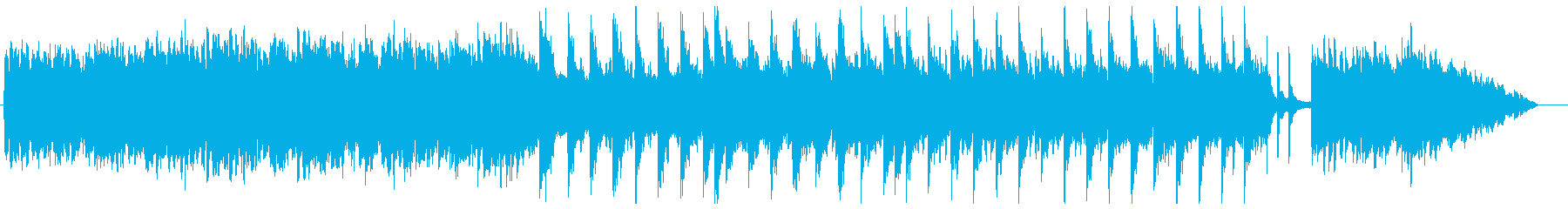 ゆったりした優しい雰囲気のヒーリング曲の再生済みの波形