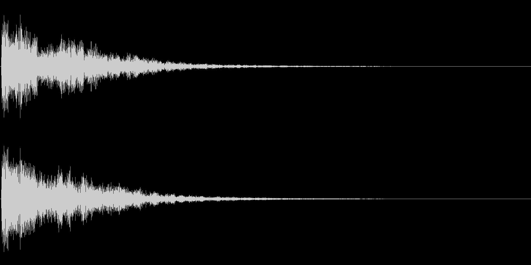 時計台の音の未再生の波形