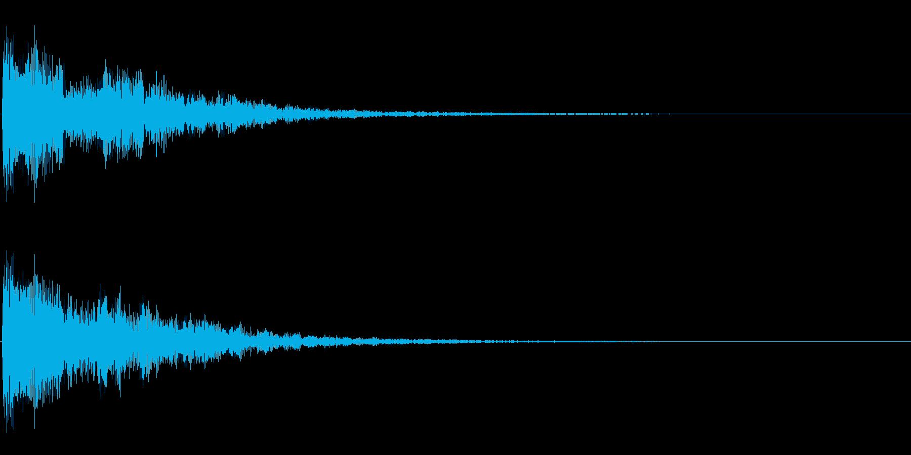 時計台の音の再生済みの波形