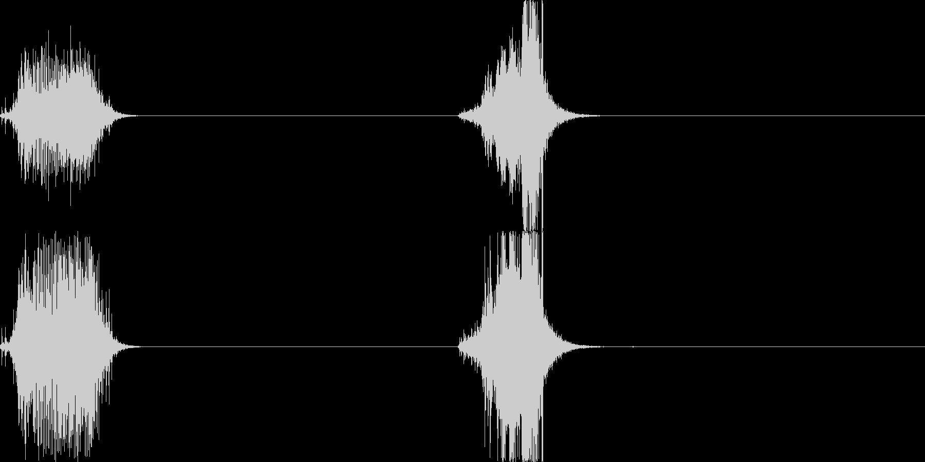 メジャー01の未再生の波形