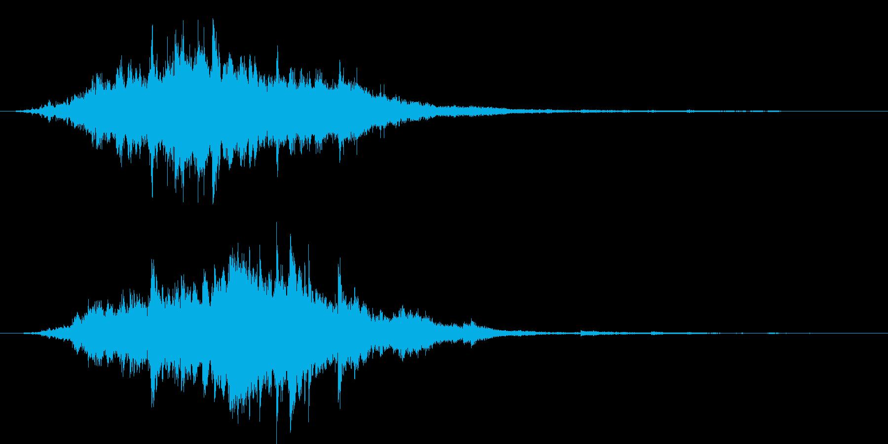 素敵な演出に綺麗なキラキラ音6(長め)の再生済みの波形
