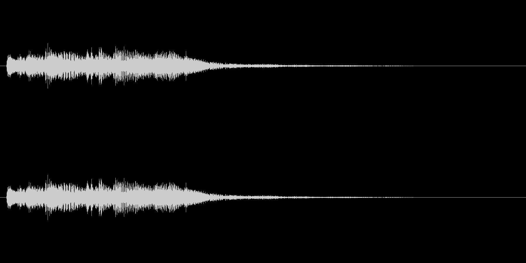 キラキラキラキラー/ハープシコード上昇音の未再生の波形