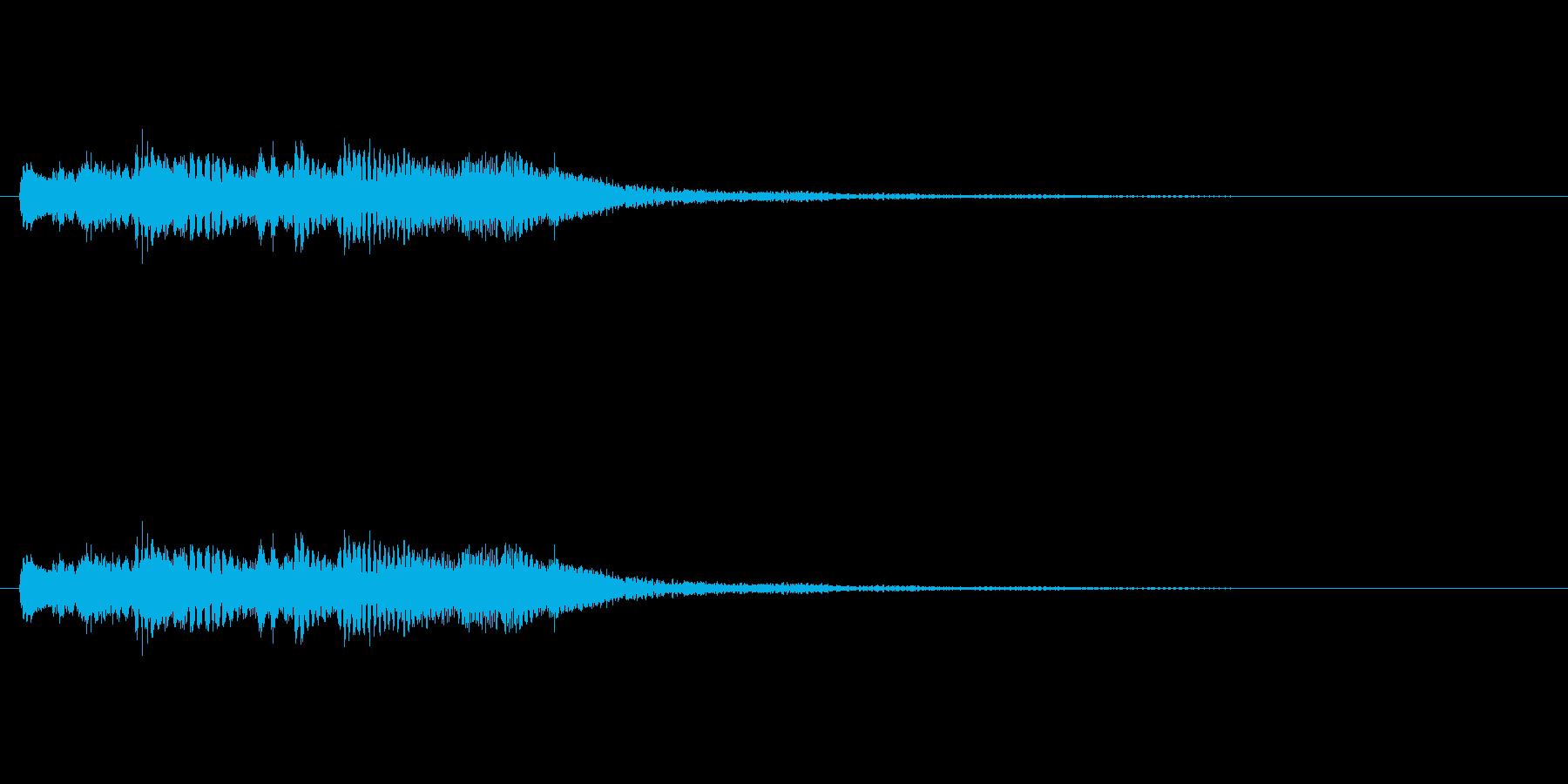 キラキラキラキラー/ハープシコード上昇音の再生済みの波形
