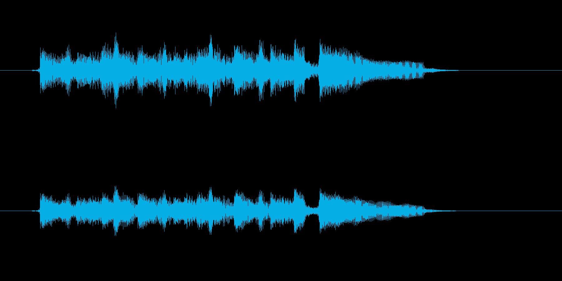 まったりと優しいアコギジングルの再生済みの波形