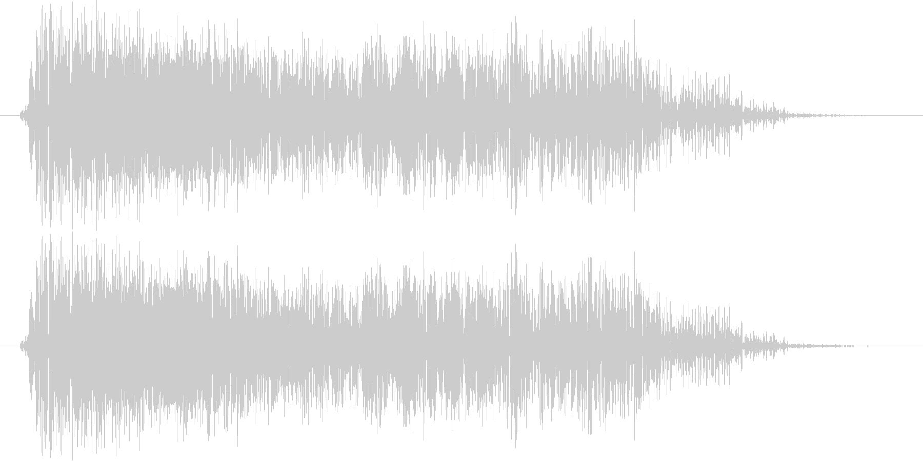 モンスター ガオー 01の未再生の波形