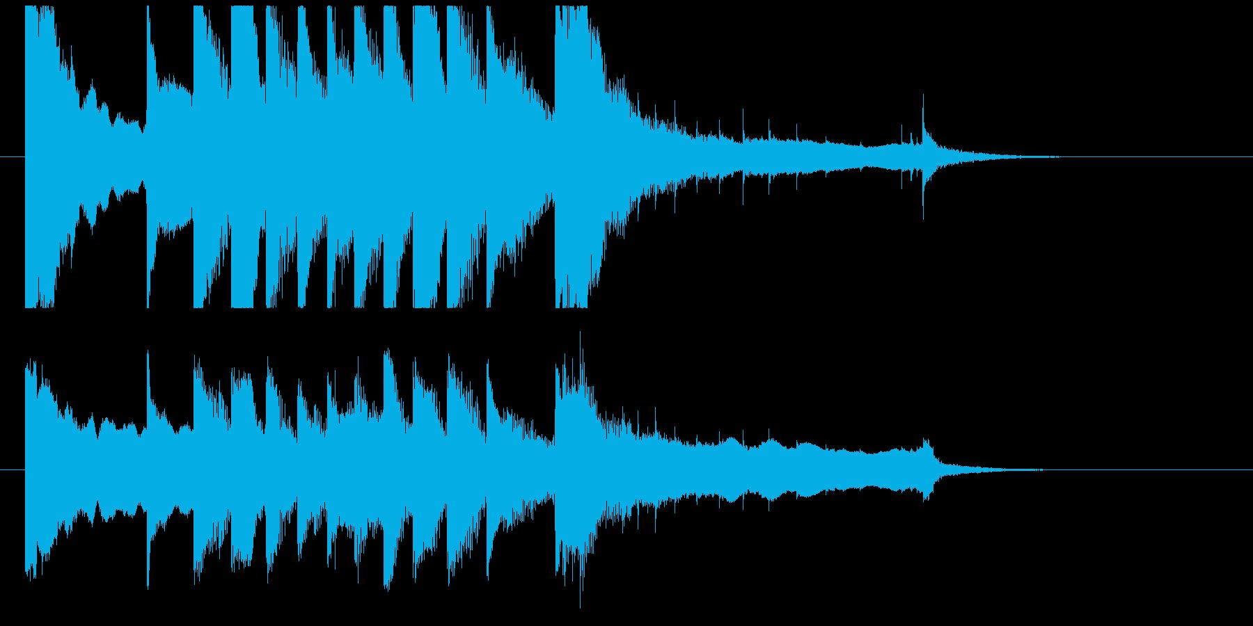 聞き馴染みのある和風・正月系ロゴ(C)の再生済みの波形