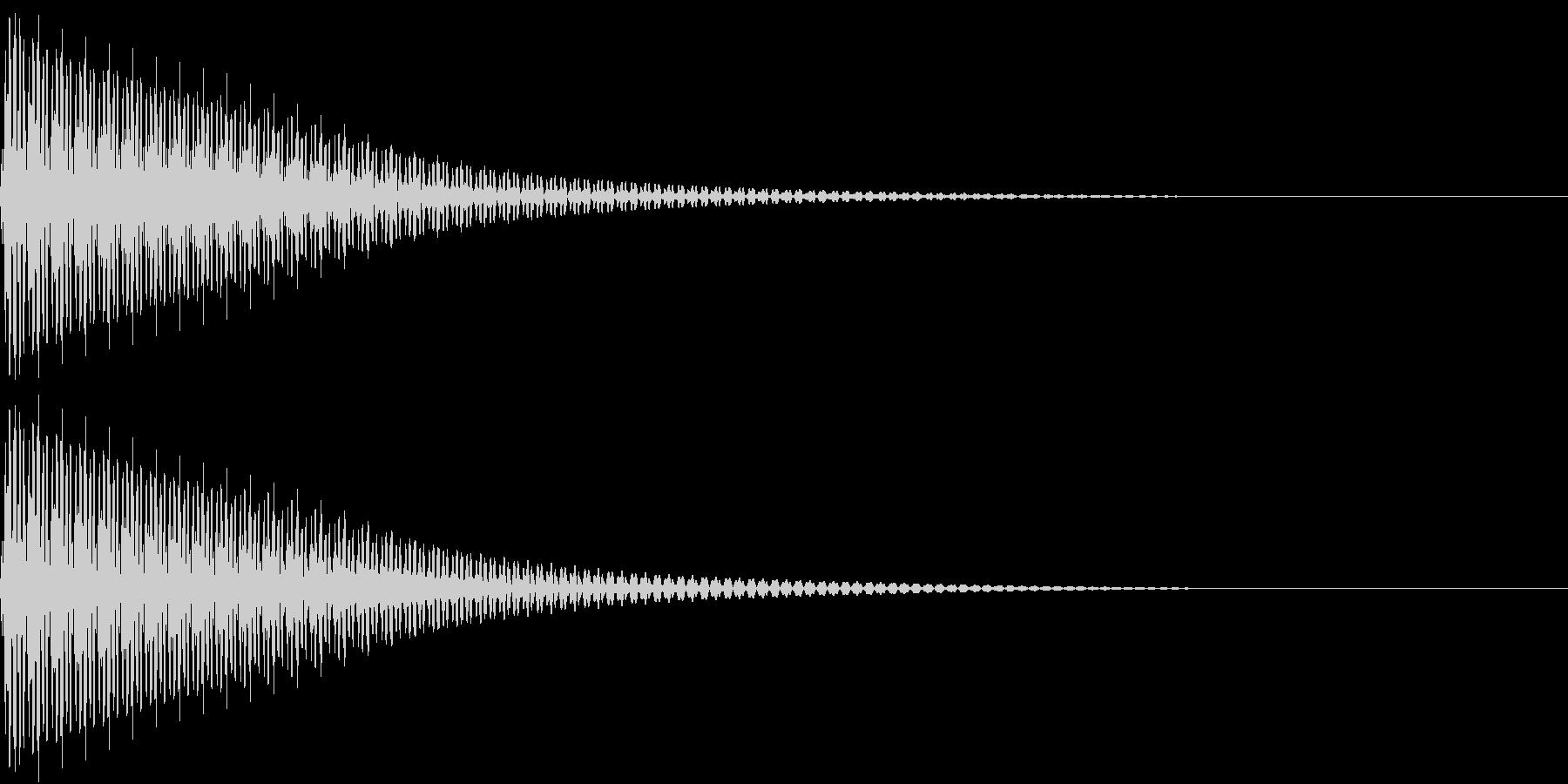 Cancel クールなコマンド音の未再生の波形