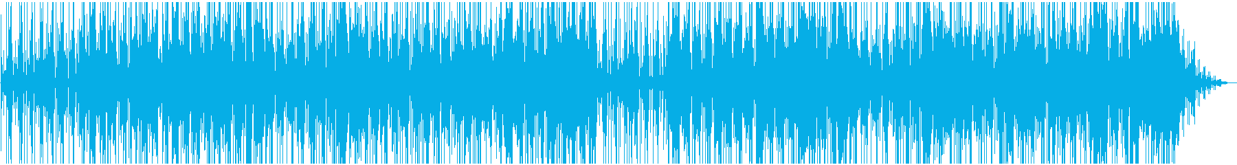 淡々と進む緊迫感のあるBGMの再生済みの波形