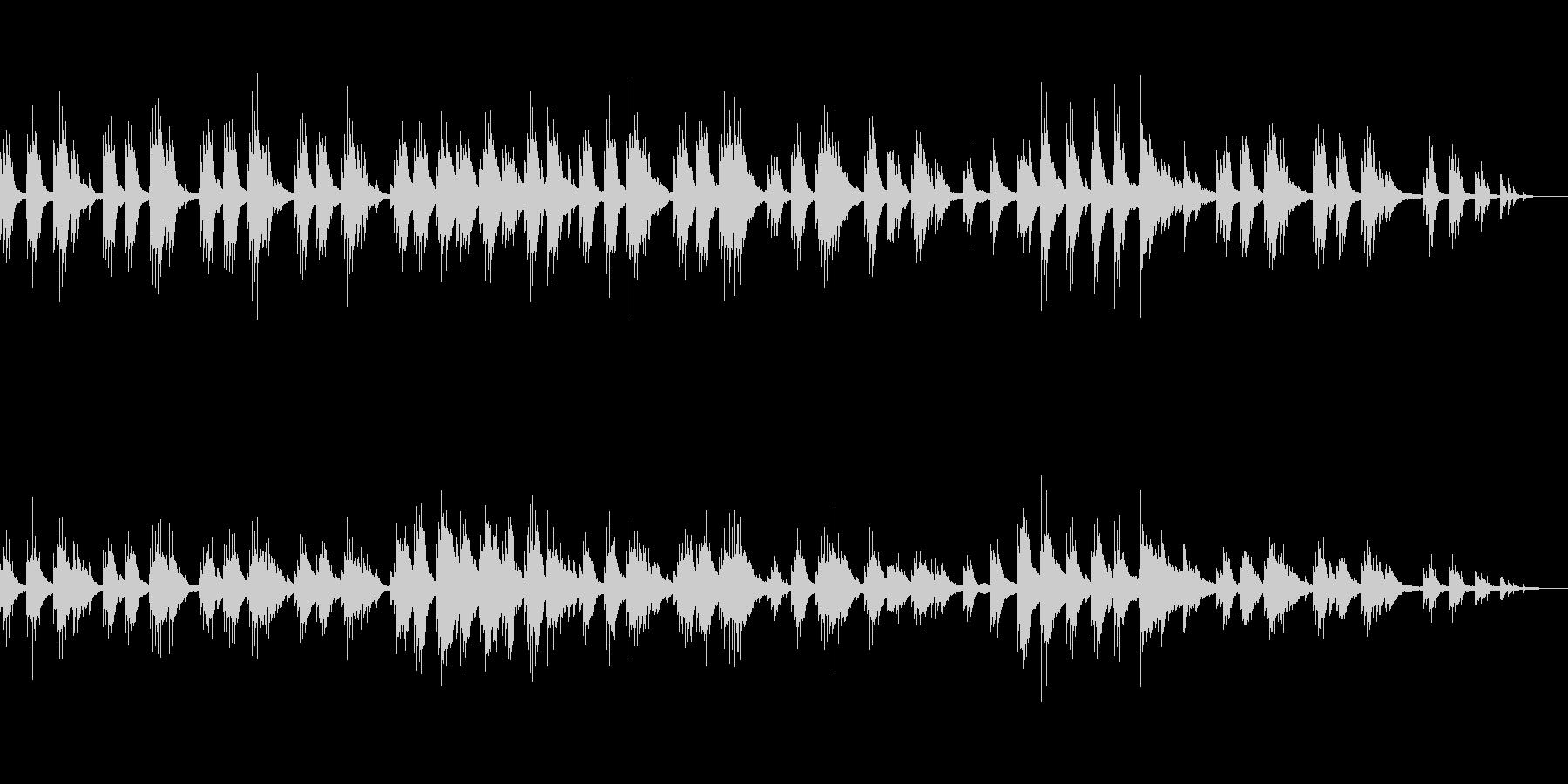 ゆったりとしたテンポのピアノソロ曲の未再生の波形