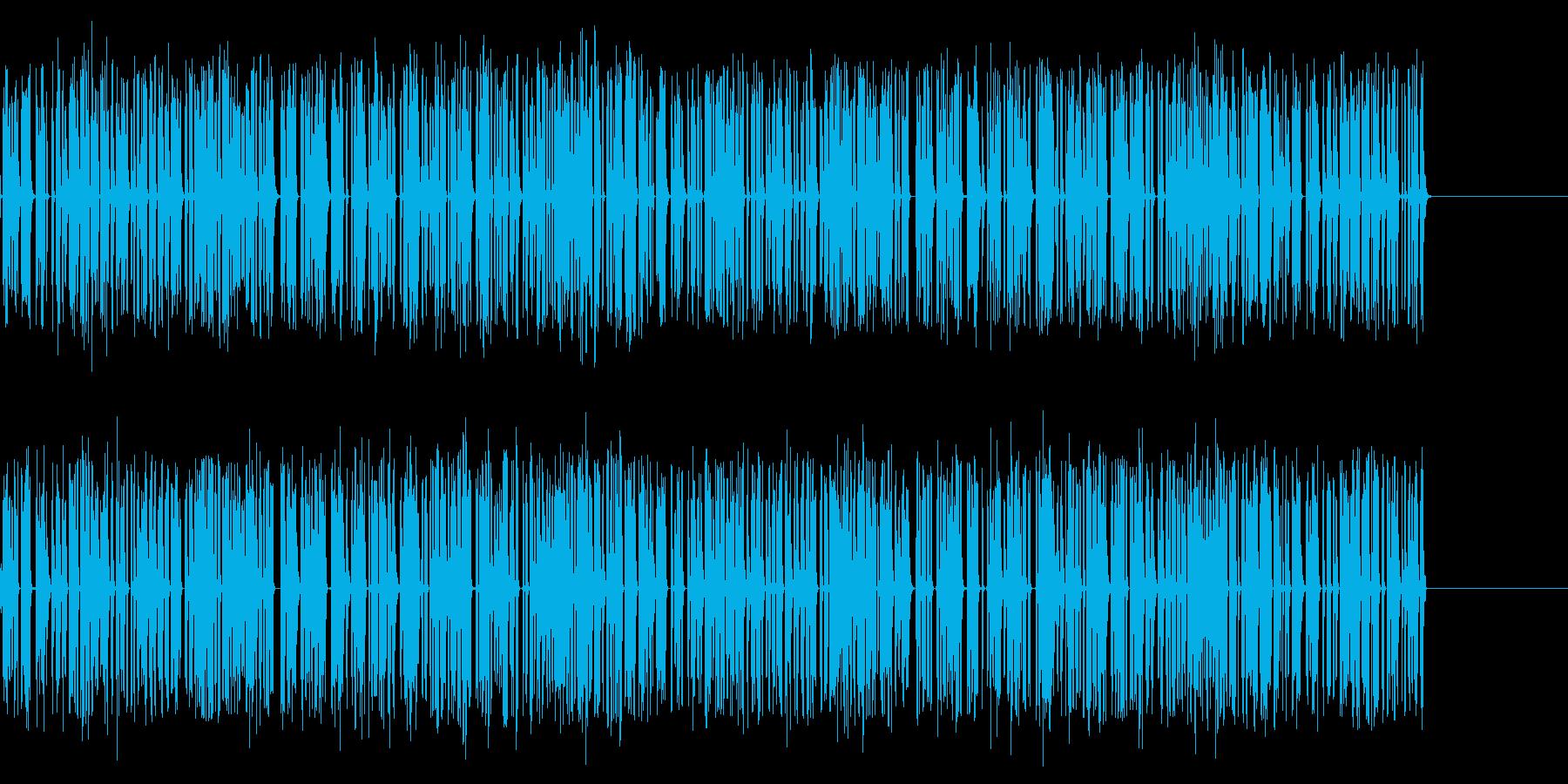 ジリジリジリ…古い放射能測定器の音の再生済みの波形
