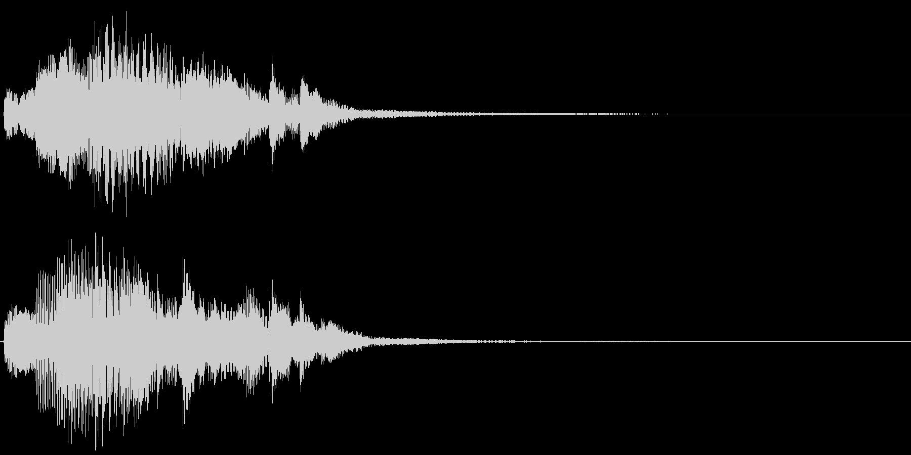 深刻なピアノのジングルの未再生の波形