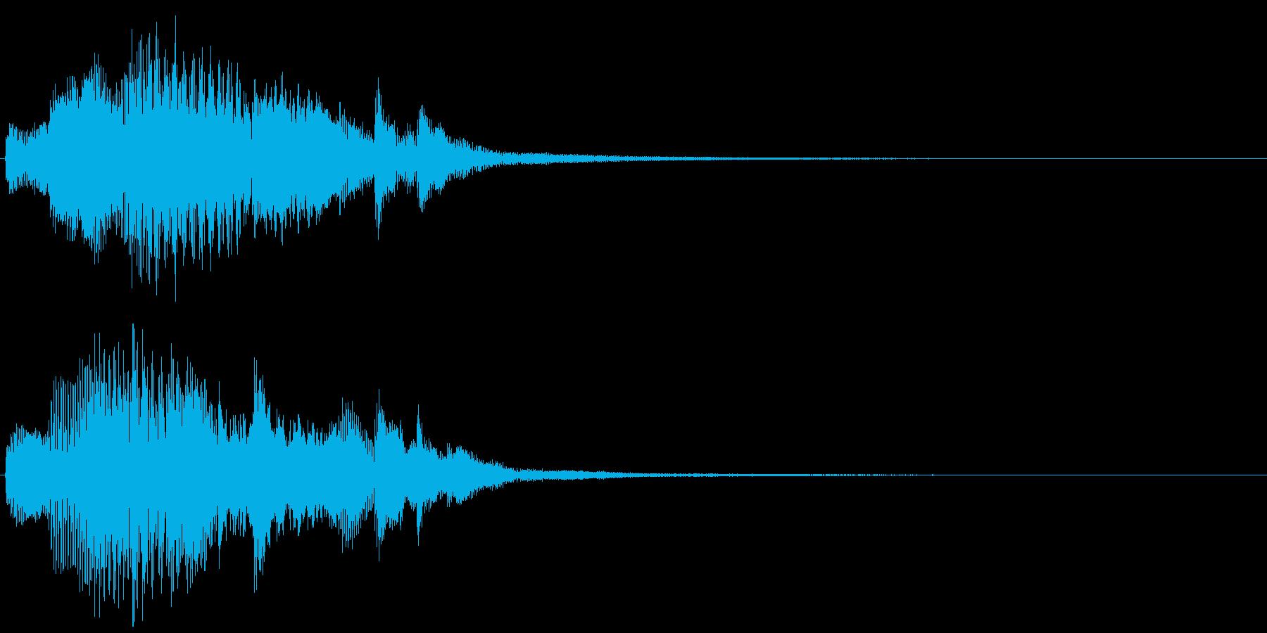 深刻なピアノのジングルの再生済みの波形