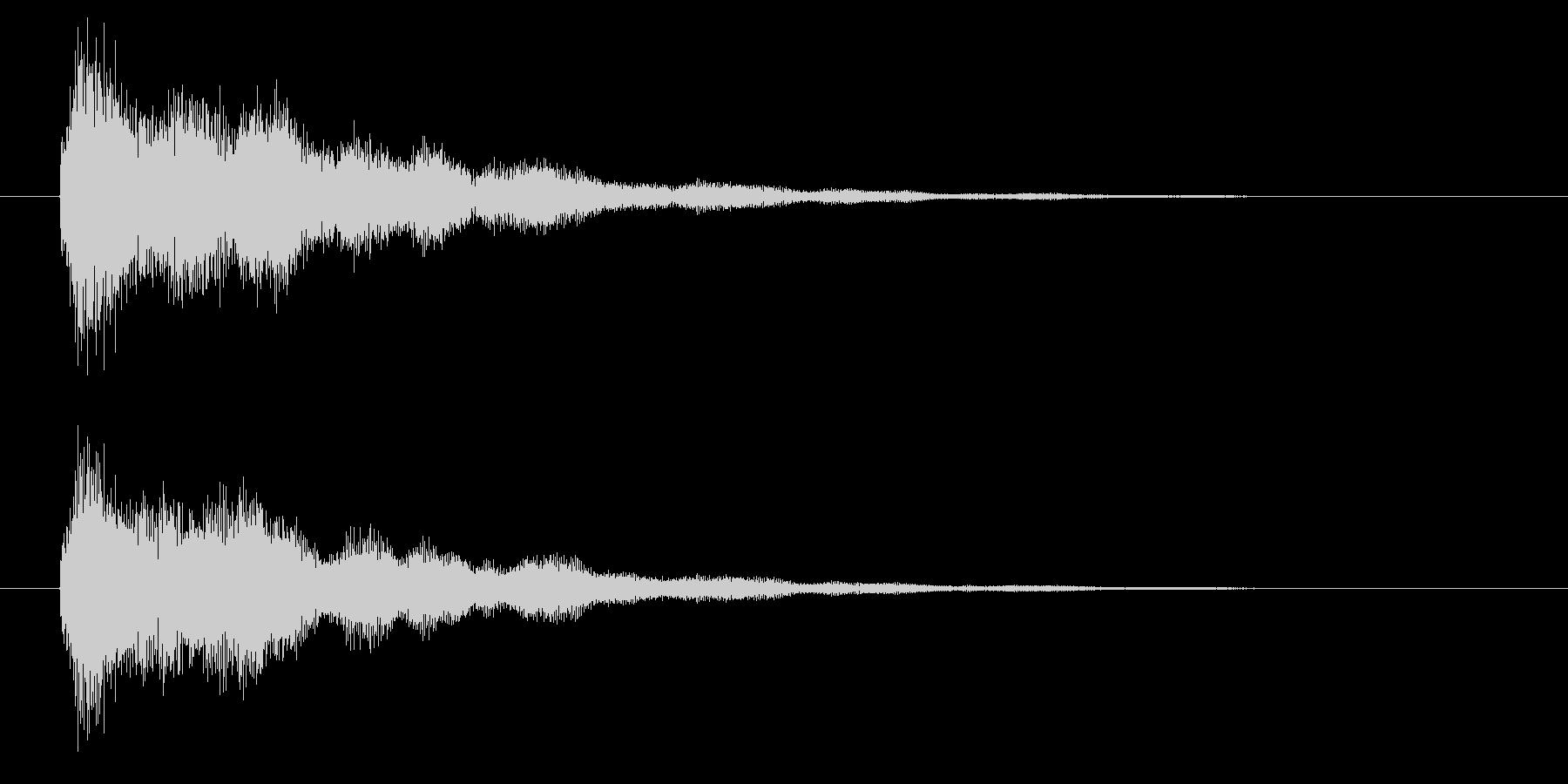 キラキラ系の決定音・開始音ですの未再生の波形