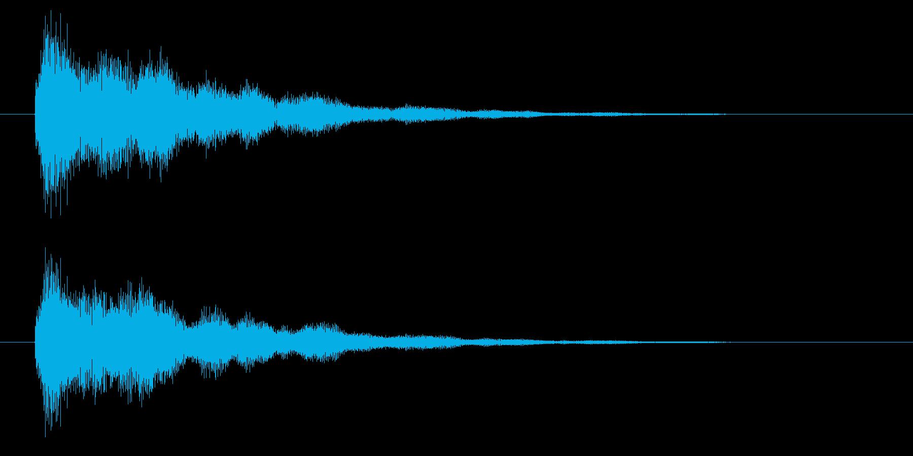 キラキラ系の決定音・開始音ですの再生済みの波形