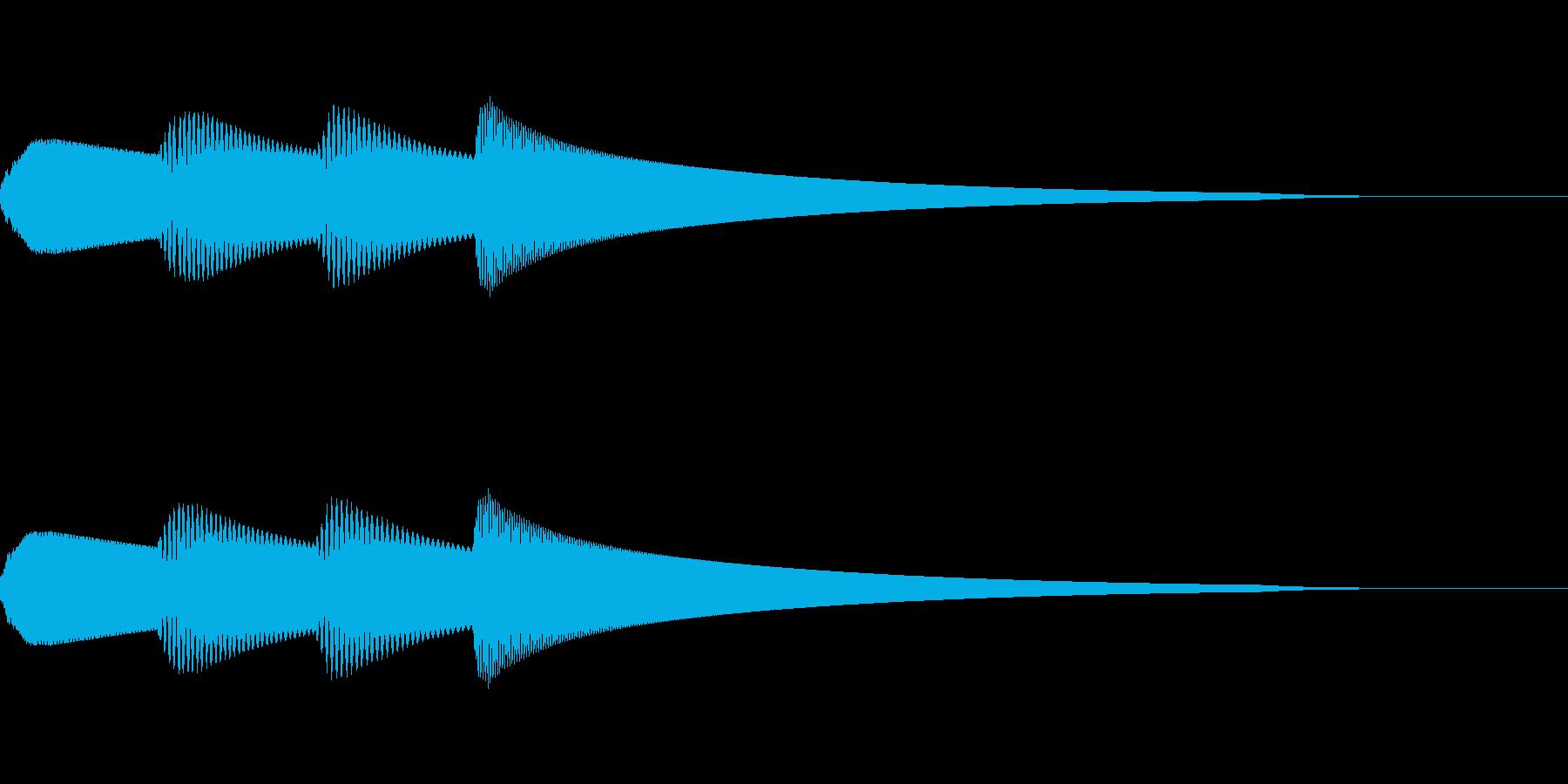 ピンポンパンポン 館内放送 IN_01の再生済みの波形