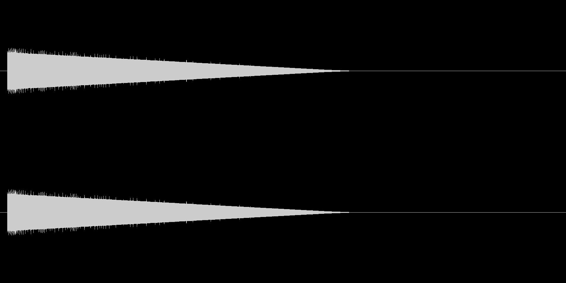 レトロゲーム風爆発音3の未再生の波形