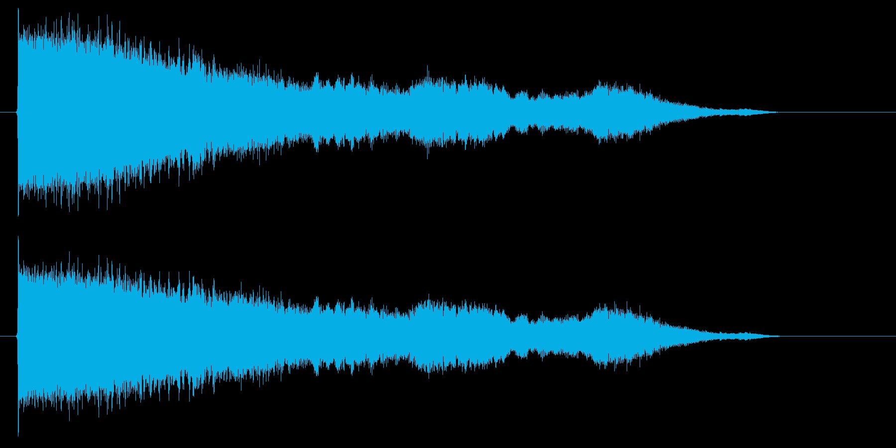 近未来的なメロディーの再生済みの波形