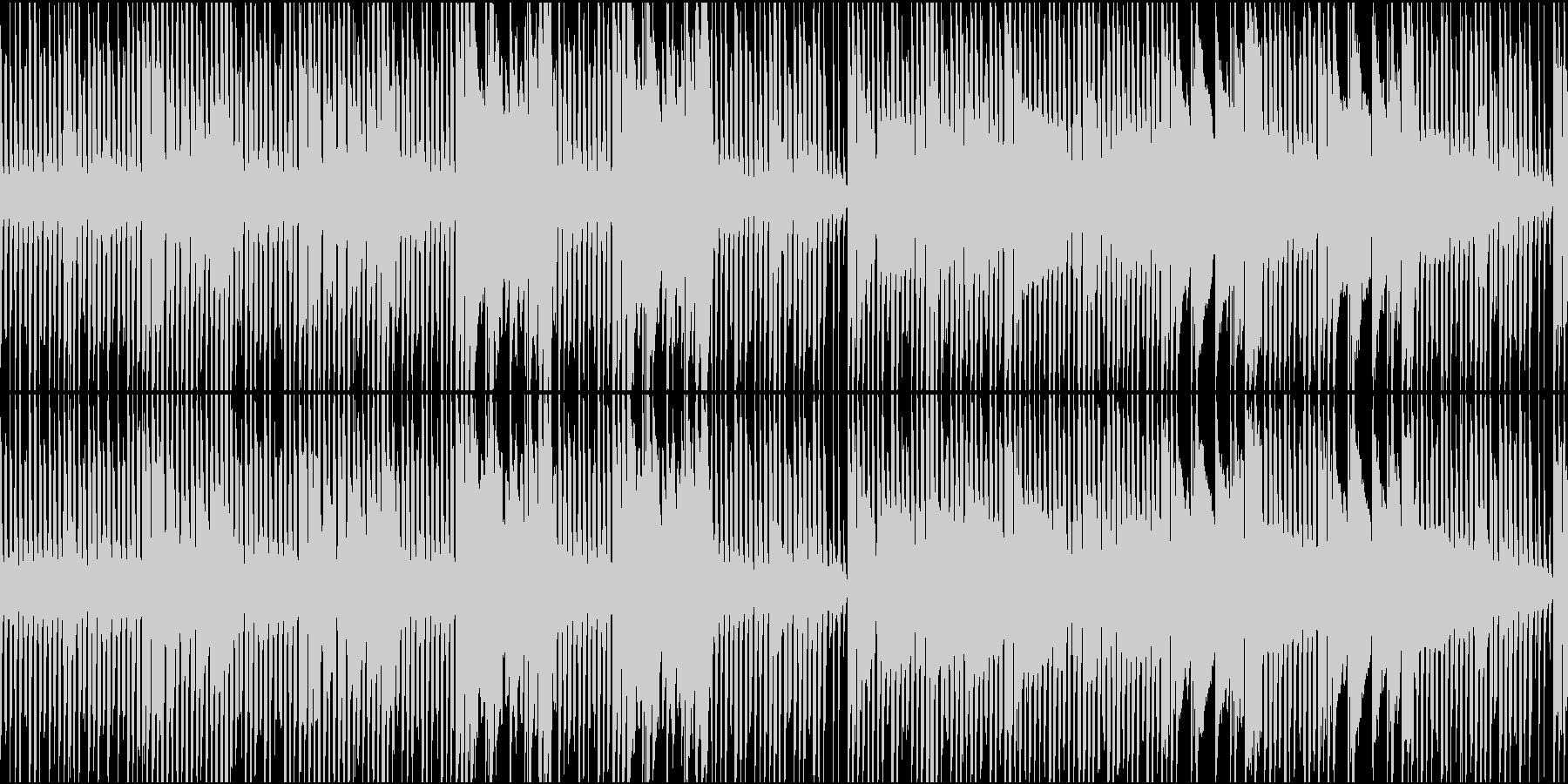 チップチューンでロックンロール風の未再生の波形
