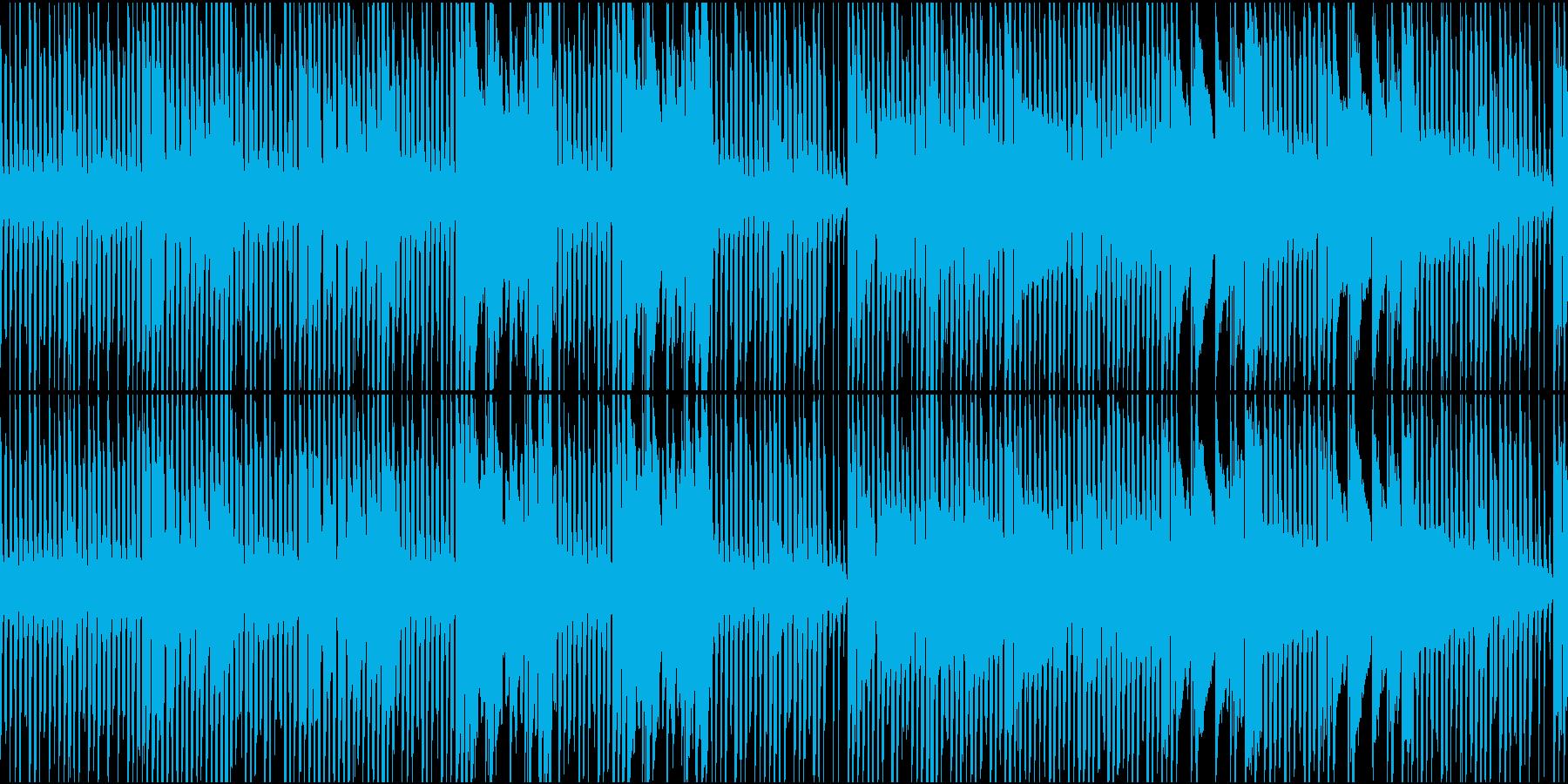 チップチューンでロックンロール風の再生済みの波形