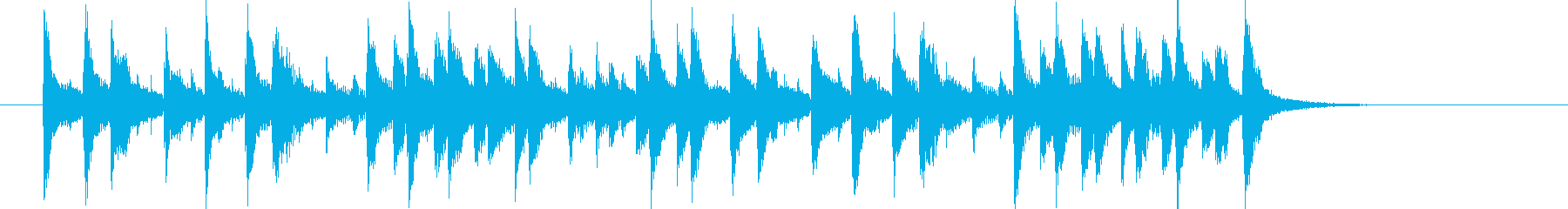 三味線を使ったコミカルなBGMの再生済みの波形