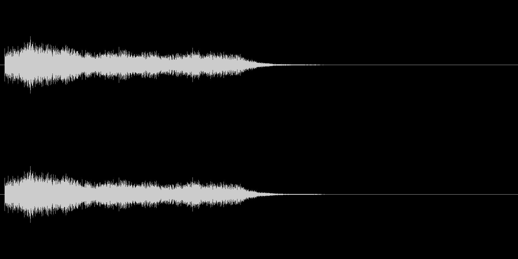 ショック/衝撃/オーケストラヒット/2の未再生の波形