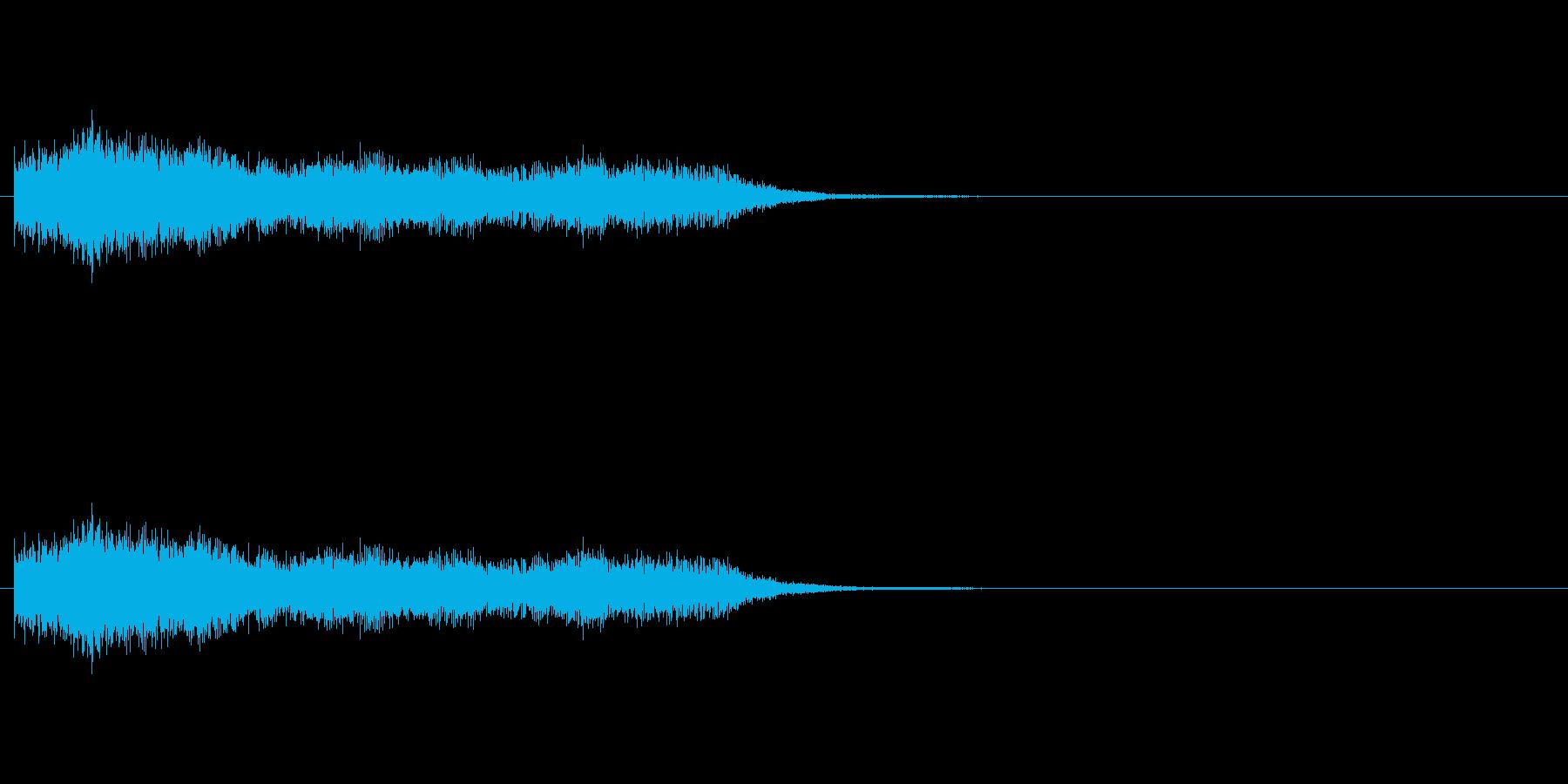 ショック/衝撃/オーケストラヒット/2の再生済みの波形